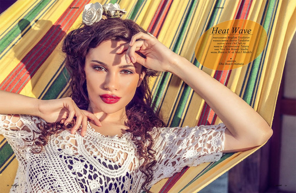 Editorial fashion revista Elegant USA, make-up artist Lacramioara Tataru