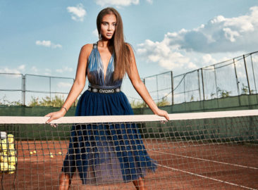 Makeup for Photo Shoot on the Tennis Court